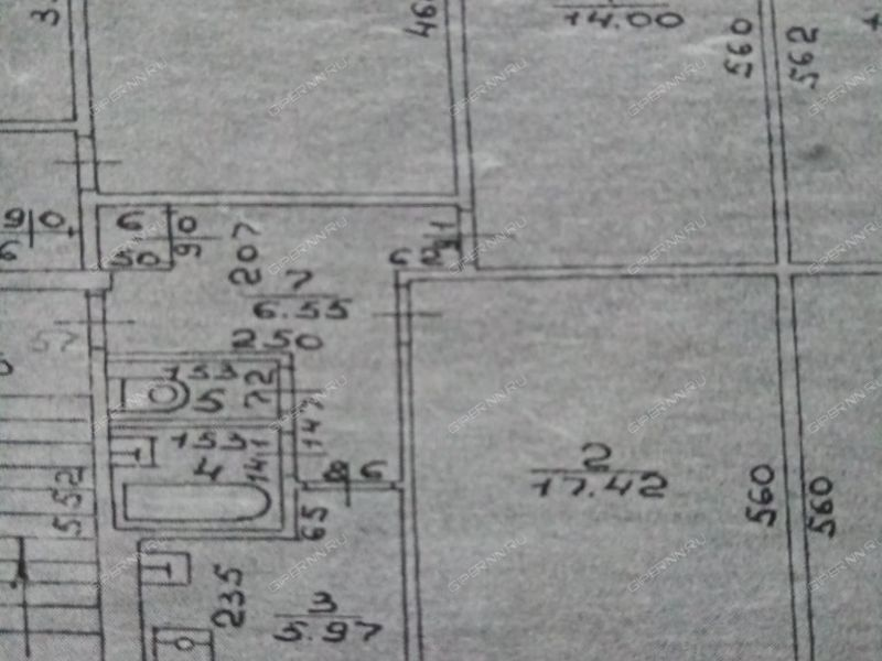 двухкомнатная квартира на проспекте Бусыгина дом 12