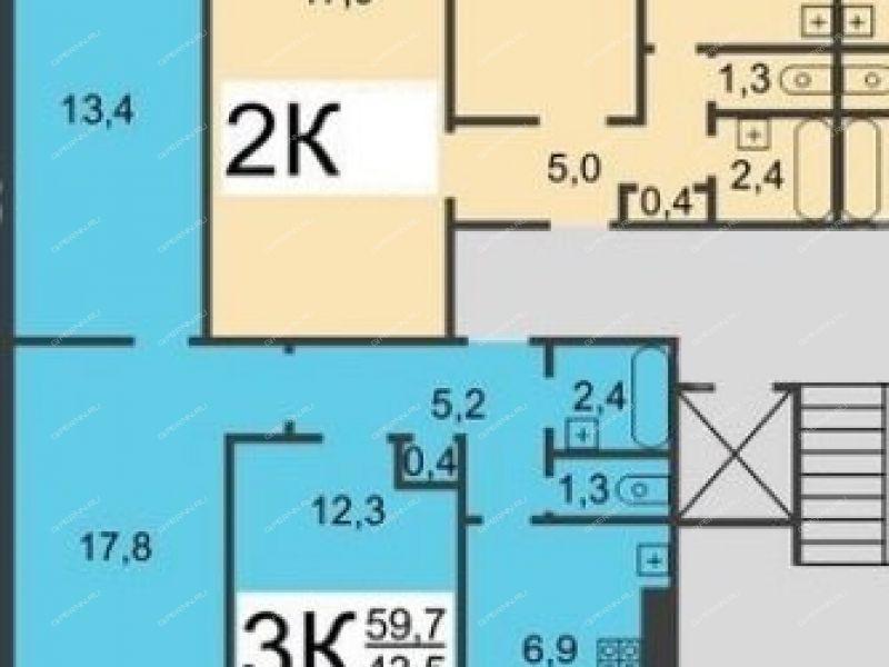 трёхкомнатная квартира на улице Норвежская дом 4