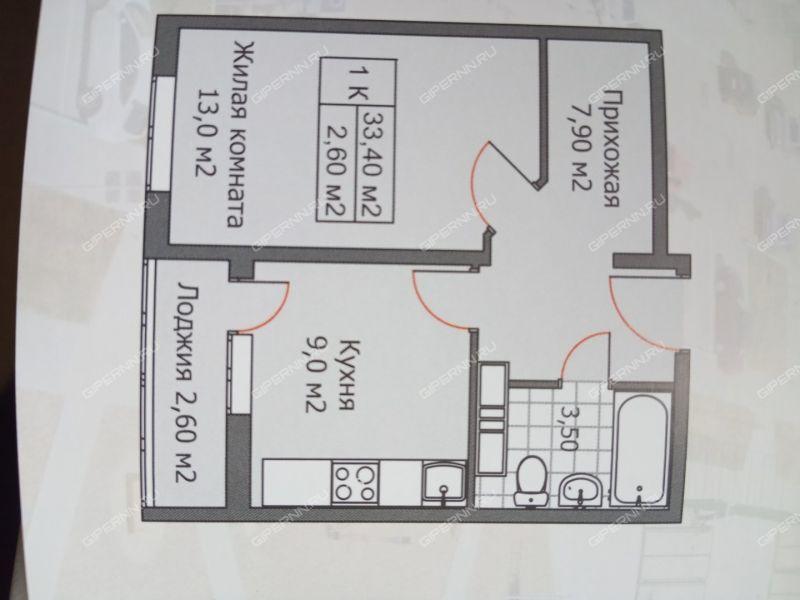 однокомнатная квартира на проспекте Кораблестроителей дом 56