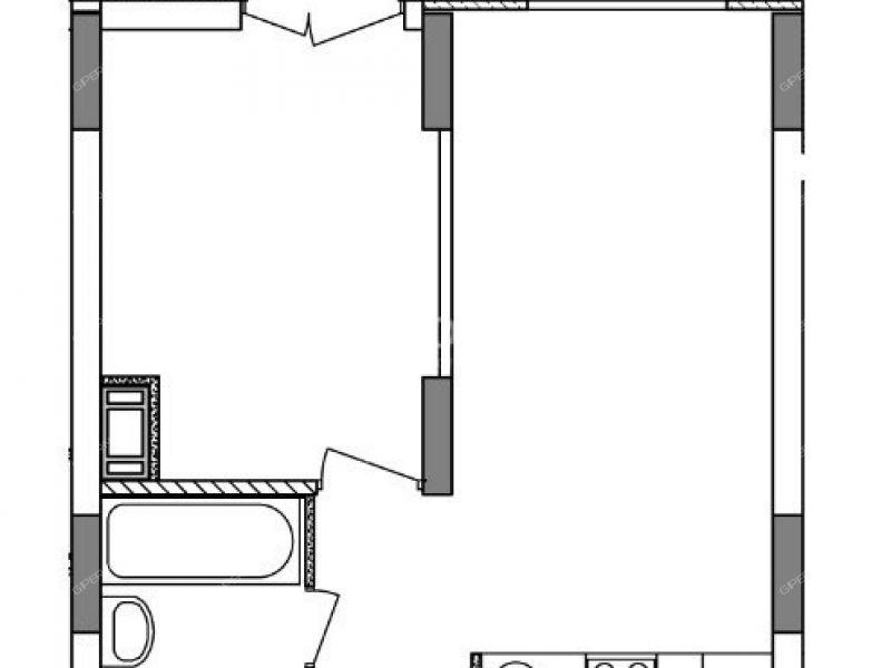однокомнатная квартира в новостройке на Русская улица, 22 деревня Анкудиновка