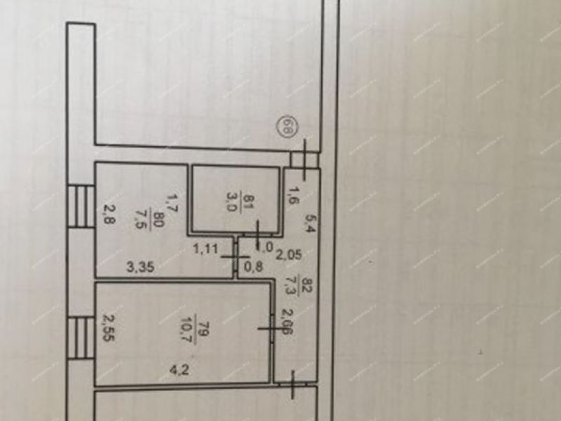 двухкомнатная квартира на улице Строителя 1-я дом 36 город Павлово